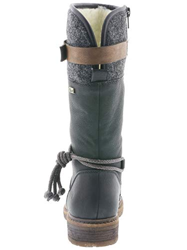 Rieker Tex Damen Stiefel 94778, Schwarz - 3