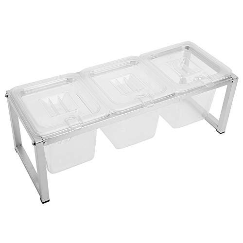 Ollas para especias de cocina, caja transparente para condimentos, caja para especias, estante, frascos extraíbles, contenedor de almacenamiento, frascos para condimentos para la cocina del