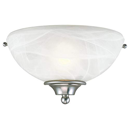 Design House 511584 Millbridge 1 Light Wall Light, Satin Nickel