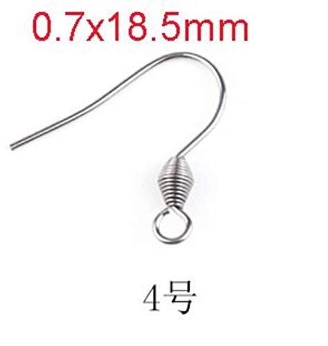 50 stks chirurgisch roestvrij staal hypoallergene Franse haak oorbellen vishaak gesp met lente fit DIY oorbel sieraden onderdeel