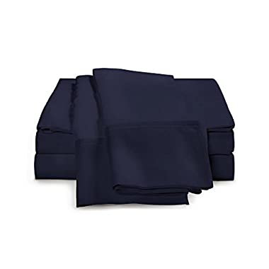 100% Egyptian Cotton Sheet Set - 1000 Thread Count | Hotel Luxury Single Ply - Sateen Weave | Set Includes One Flat Sheet, One Fitted Sheet & Two Pillowcases, King, Navy Blue