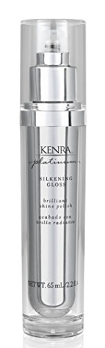 Kenra Platinum Silkening Gloss | Brilliant Shine Polish | Medium To Coarse Hair | 2.26 fl. Oz