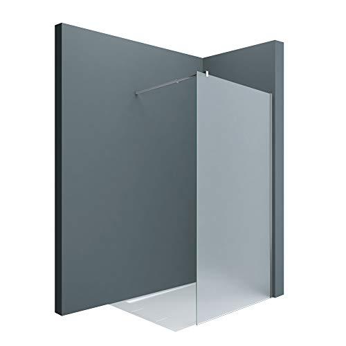 Sogood Paroi de douche à l'italienne opaque 120cm pare-douche sérigraphié Bremen1VS verre de sécurité 8mm 120x200 stabilisateur carré
