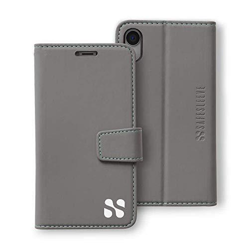 SafeSleeve EMF Protection Anti Radiation iPhone Case: iPhone XR RFID EMF Blocking Wallet Cell Phone Case (Grey)