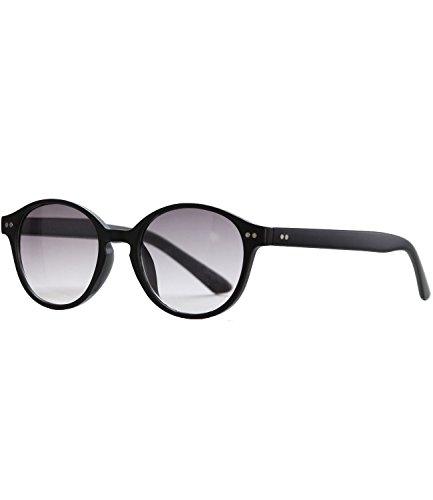 Caripe Lesebrille getönt Herren Damen Retro Brille 50er 60er Lesehilfe - M6800 (+ 2,5 dpt, schwarz matt)