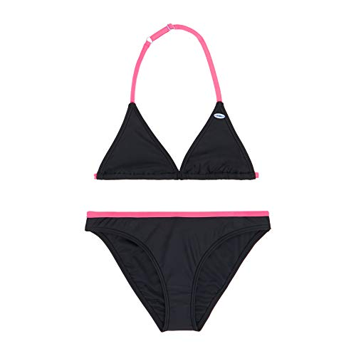 O'NEILL Pg Essential Triangle Bikini Bikini para Niña, Niñas, Black out, 140