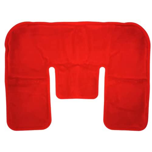 Moorkissen Mikrowelle Rücken-Nacken-Schulter-Wärme-Kissen Moor-Gel-Kompresse-Packung - natürliche Wärmebehandlung mit Naturmoor - 29x39 cm - Qualitätsprodukt mikrowellengeeignet mit Velours-Bezug rot
