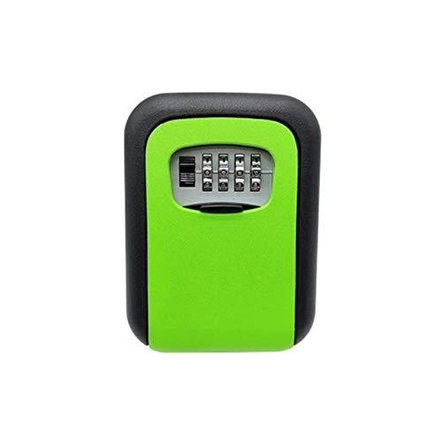BaoYPP Caja de Seguridad para Llaves Montable en Pared Diseñado Combinación 4 dígitos de Bloqueo de Teclas Caja de Almacenamiento de Bloqueo Práctico y Conveniente (Color : Verde, Size : One Size)