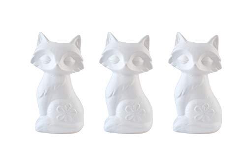 3 x Luftbefeuchter für die Heizung zum Hängen creme Keramik Shabby TIER