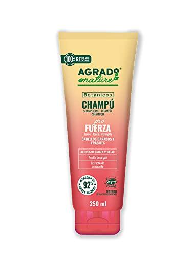Champú para el pelo 200 ml Fuerza para el cabello Cosmética Natural Ingredientes Naturales Vegano Botánicos AGRADO Nature