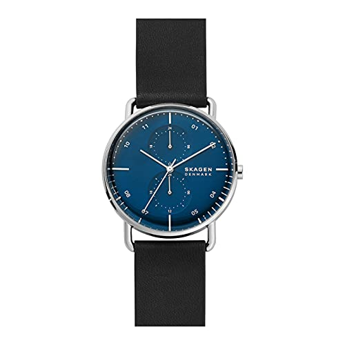 Skagen Herren Uhr Horizont Multifunktion Leder schwarz, SKW6702