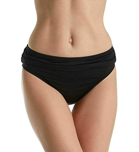 Tommy Bahama Women's Small Solid Bikini Bottom Swimwear Black S