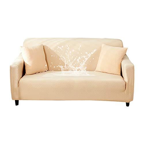HOTNIU Funda de Sofá Elástica, Cubre Protector de Sofá Impermeable, Fundas Decorativas para Sofás Muebles, Cubierta Antideslizante de Asiento