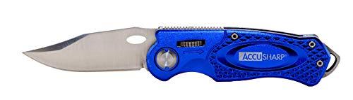 AccuSharp Folding Sport Knife - Coltello blu, 2.5 pollici