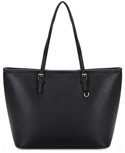 COOFIT Handtasche Damen Schwarz Handtasche Damen Gross Shopper Damen Groß Tasche Damen Groß Taschen Damen
