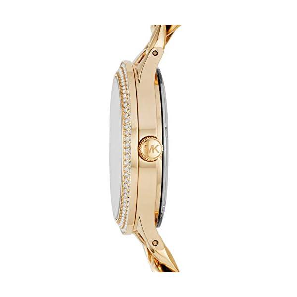 Michael Kors Women's Slim Runway Gold Tone Stainless Steel Watch MK3474