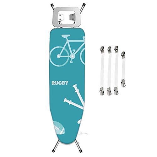ZJBKX Housse Planche À Repasser, Vélo Bleu, Sécurisée avec Cordon De Cordon, avec 4 Pinces