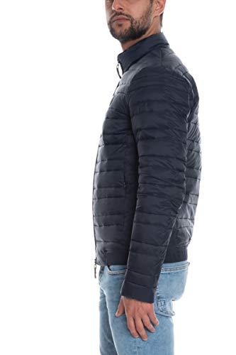 Armani Exchange A| X Zip Up Down Jacket Chamarra de plumas, Azul marino/diente de león, M para Hombre