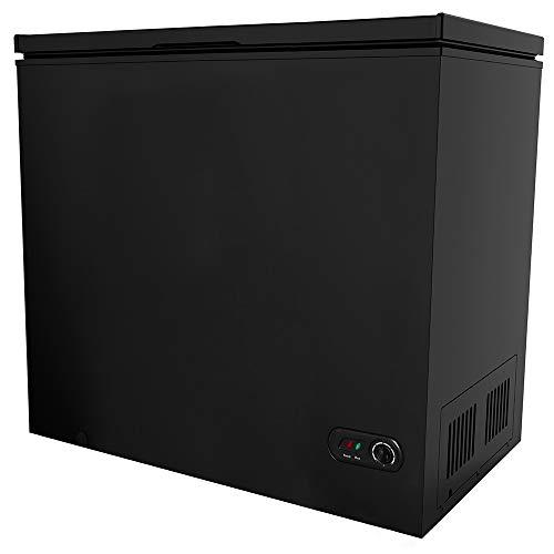 ADT Chest Freezer Free-Standing Top Door Freezers 6.8℉ to -4℉ (Matte Black, 7.0 Cubic Feet)