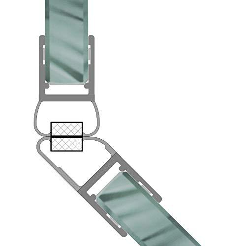 Magnetdichtungen Duschdichtung 135° Magnetprofil Steckprofil Duschdichtung Glasdusche 1 Set für 6-8mm Glasstärke