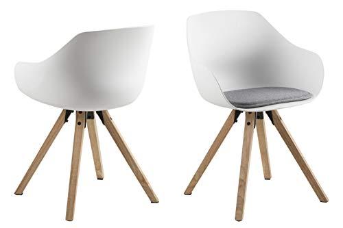 AC Design Furniture Tille Silla del Comedor, Plástico/Malmo, Gris, L: 53 x W: 56.5 x H: 80.5 cm