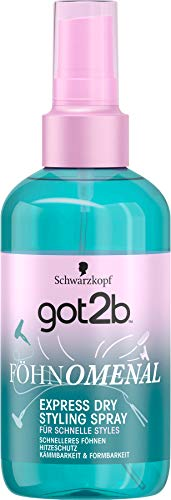 Schwarzkopf got2b Spray FÖHN O MENAL Express dry, 1er Pack (1 x 200 ml)