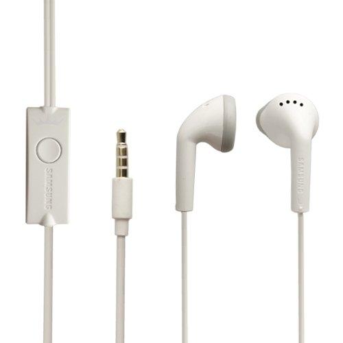 Original Samsung Headset EHS61 in Weiss für Samsung Galaxy J5 (2017) J530F Kopfhörer Ohrhörer geformt 3,5mm Stecker Stereo Sound Bulk verpackt + gratis Bildschirm Reinigungspad
