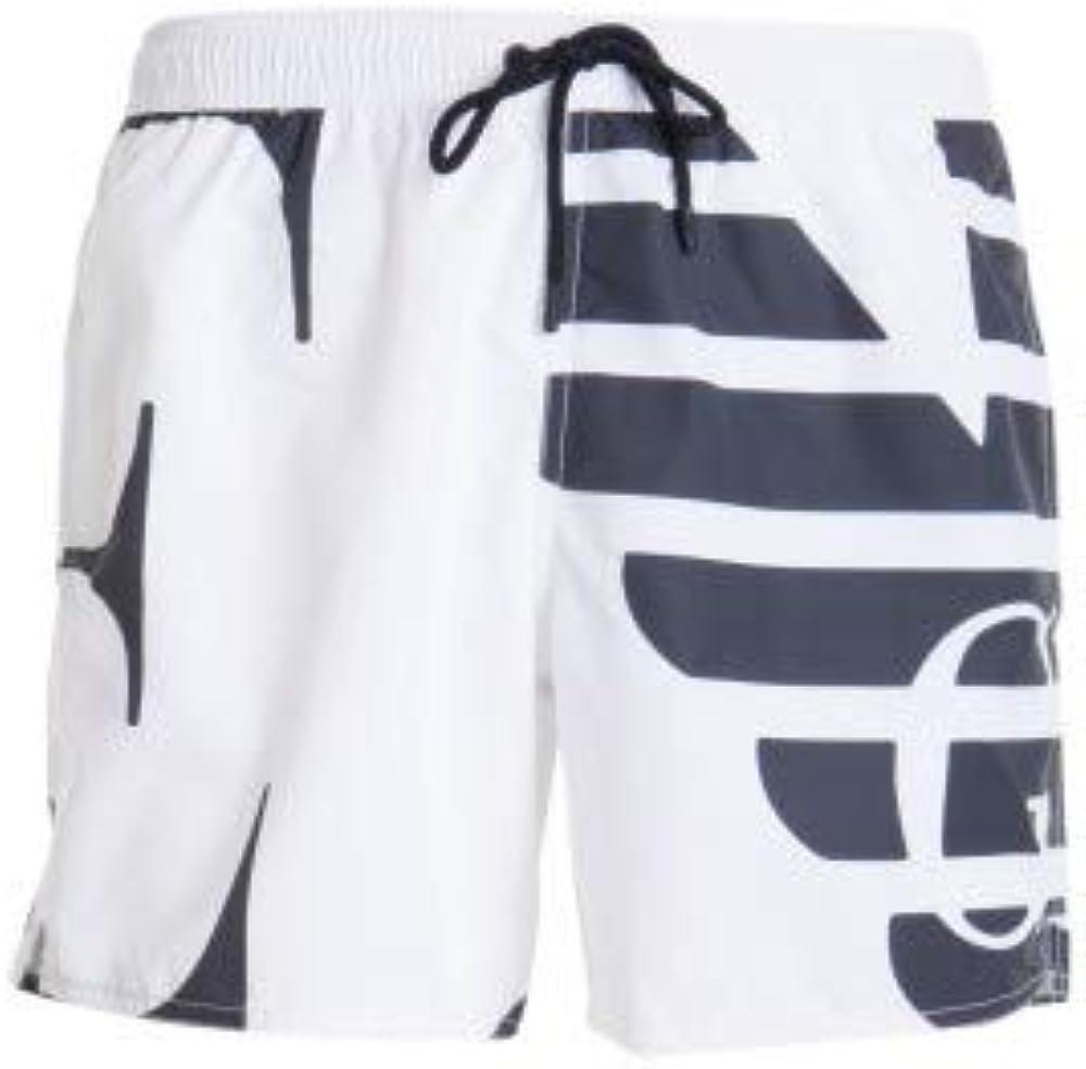 Emporio armani swimwear, boxer brand evidence, costume da bagno per uomo,100% poliestere 211740 1P424 69510
