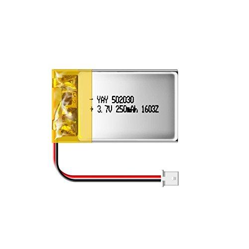 Matecam - Batería recargable de polímero de litio para cámara de llavero 808 Mate808#18 (3,7 V, 250 mAh)