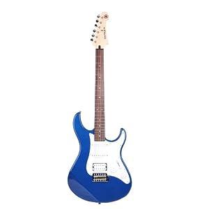 Yamaha Pacifica 012 Chitarra Elettrica – Chitarra 4/4 in Legno (64,77 cm, scala da 25,5″) – 6 Corde, Selettore Pickup a 5 posizioni, Bianco Vintage – blu scuro metallico