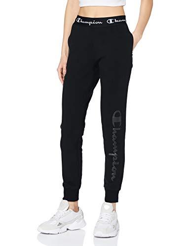Champion Damen Women\'s Seasonal Big Logo Pants Jogginghose, Schwarz (KK001), X-Large