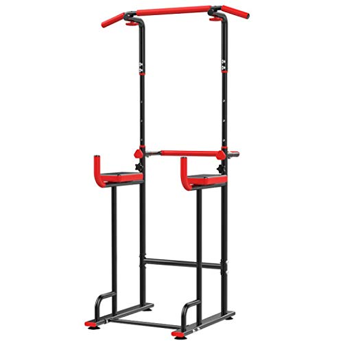 LONGTA Power Tower Adjustable Pull Up Bar Home Gym Strength Training Workout Multi Function Equipment