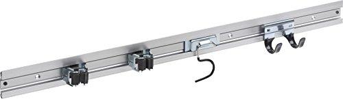 Meister Gerätehalterleiste 800 mm - Geräteleiste & 4 Gerätehalter - Aluminium - Leichte Montage / Werkzeughalter / Gerätehalter für Gartengeräte / Stabile Werkzeugleiste für die Wand-Montage / 9953360