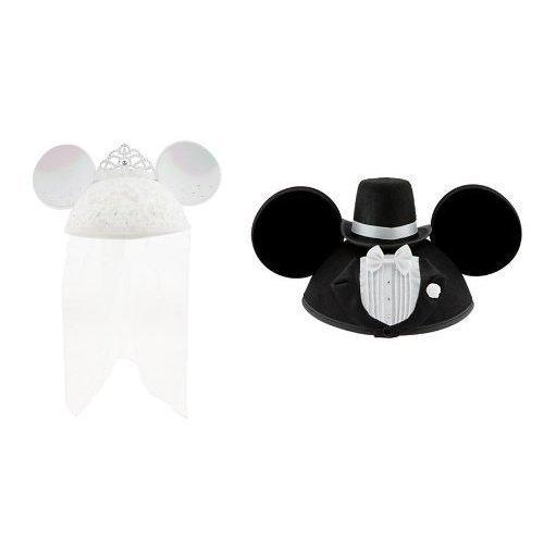 Disney Disney Minnie Mouse Mickey & Minnie Mouse Ear Hat Groom & Bride Minnie Mickey ear ear hat wedding pair bride and groom Groom & Bride 2-piece set