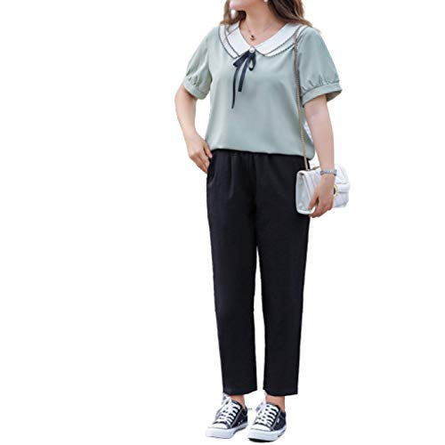 Mujer Pantalones con Corte de Bota Ease Into Comfort Perneras Anchas Color sólido Diario Moda de Ocio Pantalones Cortos con Bolsillo 5XL
