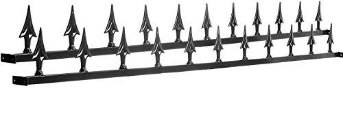 Avonstar Classics Range Pinchos de seguridad para valla (2 unidades), color negro