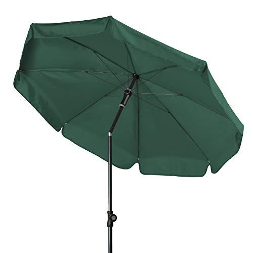 Doppler - Hochwertiger Sonnenschirm für den Balkon - Knickbar - Wetterfest - UV-Schutz 50+ - Grün - 150 cm