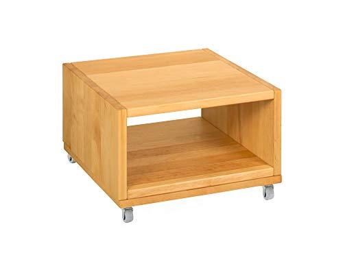 BioKinder 25270 Nachttisch Nachtkästchen Beistelltisch Holz Erle 40x40x26cm, Modell:offen