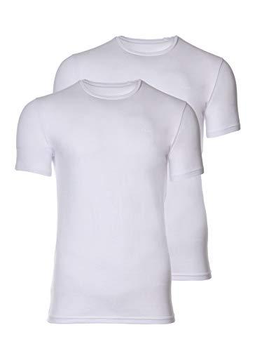Joop! Herren R-Neck T-Shirt, 2er Pack, Weiss, XL