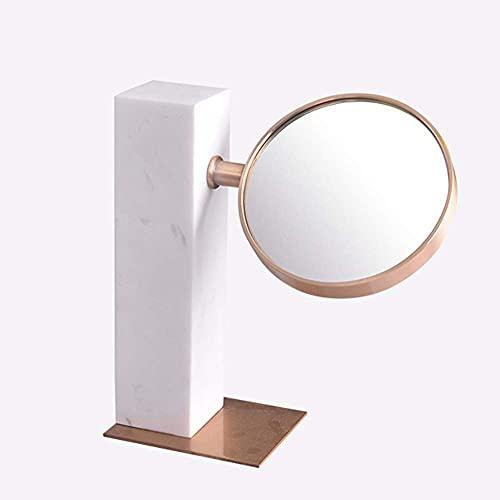 LIXHZJ Marco de metal de tocador redondo de mármol para el hogar europeo de espejo se puede utilizar como regalo de cumpleaños, código de producto: WW-125 (color: B)