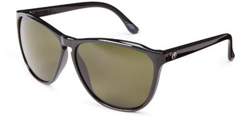 Electric California Encelia Round Sunglasses, Gloss Black, 164 mm