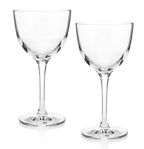 The Original Nick & Nora Crystal Martini Glasses (Gift Box Set of 2)