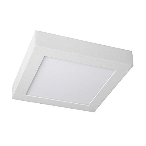 LEDUNI ® Downlight Plafón Superficie LED Cuadrado 20W 2000LM Color Blanco Neutro 4000K Angulo 120 IP40 OPAL Aluminio 225 * 225 * 40Hmm