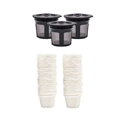 Gazechimp Paquete de Filtro de Papel Desechable 3X K Cups de 100 para 1.0 K550 / K560