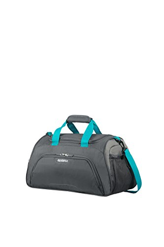 AMERICAN TOURISTER Road Quest - Sports Bag Sport Duffel, 50 cm, 38 liters, Grey (Grey/turquoise)