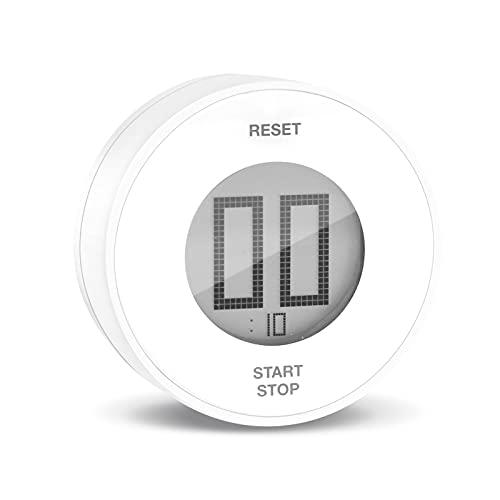 WOCVRYY Timer da Cucina, Conto alla Rovescia Magnetico, Timer Digitale a LCD, Knob Twist Design, Countdown Contaminuti, Strumento di Gestione del Tempo per Bambini e Adulti