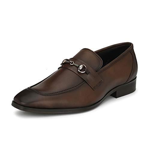 Saddle & Barnes Men's Brown Leather Formal Loafers - 9 UK, HS 238-9