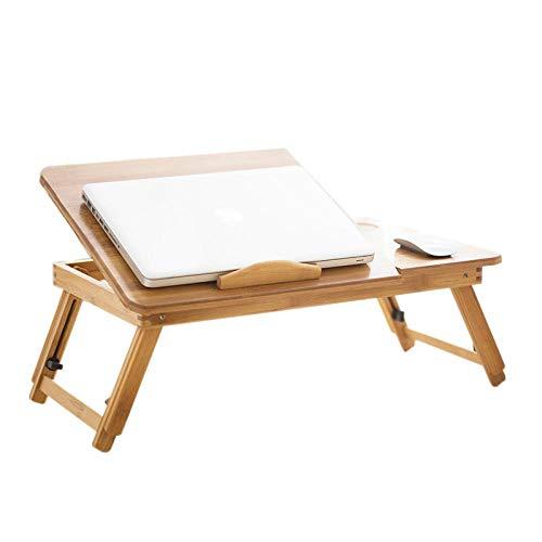 EmottUi Mesa de cama ajustable para ordenador portátil, mesa plegable de bambú, portátil, portátil, portátil, portátil, portátil, portátil, portátil, portátil, soporte de sofá