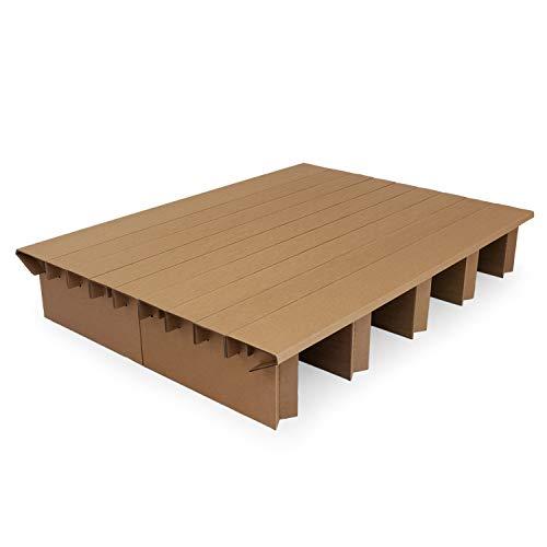 Pappbett Dream 150 cm Breite, 200cm Länge, Stauraum mit zusätzlichen Bettkästen nutzbar