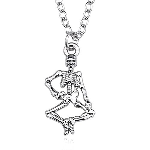 Moda Steampunk Pentagrama invertido Pan Dios Cráneo Cabeza de Cabra Collares Pendientes Satanismo Satánico Oculto Metal DIY Gargantilla Collar